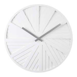 Biały zegar ścienny Karlsson Slides, ø 40 cm obraz