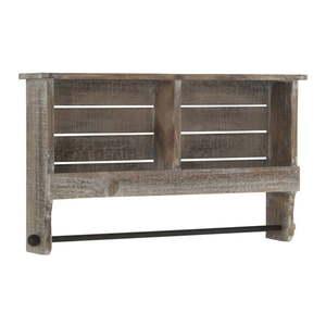 Drewniana półka z drążkiem Geese Sencil obraz