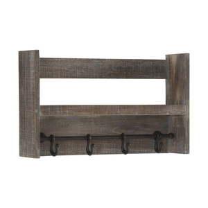 Drewniana półka z 4 haczykami Geese Sencil obraz