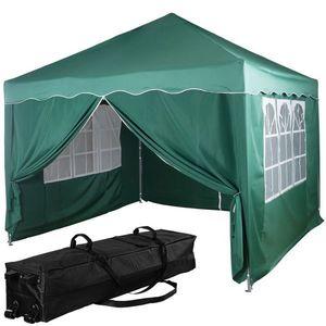 Namiot ogrodowy - 3 x 3 m, zielony + 4 boki obraz