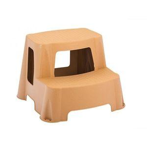 Plastikowe schodki małe - szary - Rozmiar Nosnosc 100 kg obraz