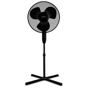Wentylator stojący z obrotem poziomym - czarny - Rozmiar 40cm obraz