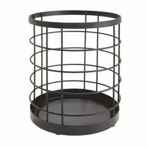 Czarny koszyk na przybory kuchenne iDesign Austin obraz