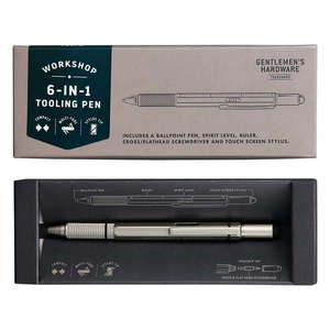 Srebrny długopis wielofunkcyjny długopis 6w1 Gentlemen's Hardware obraz
