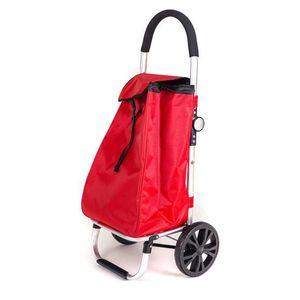 Wózek zakupowy na kółkach 30 l - czerwień - Rozmiar 30l obraz