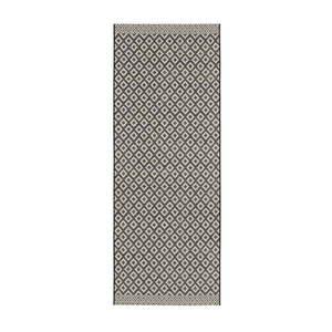 Czarno-beżowy chodnik Zala Living Minnia, 76x200 cm obraz