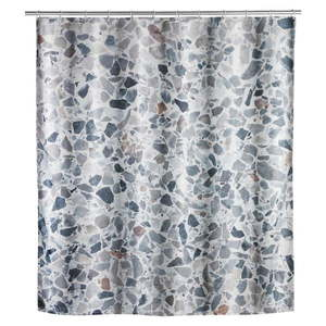 Zasłona prysznicowa odpowiednia do prania Wenko Terrazzo, 180x200 cm obraz