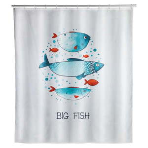 Zasłona prysznicowa odpowiednia do prania Wenko Big Fish, 180x200 cm obraz