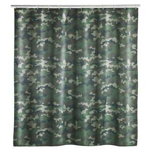 Zasłona prysznicowa odpowiednia do prania Wenko Camouflage, 180x200 cm obraz