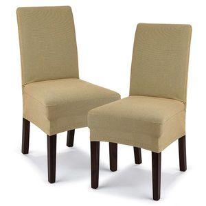 4Home Multielastyczny pokrowiec na krzesło Comfort, beżowy, 40 - 50 cm, zestaw 2 szt. obraz