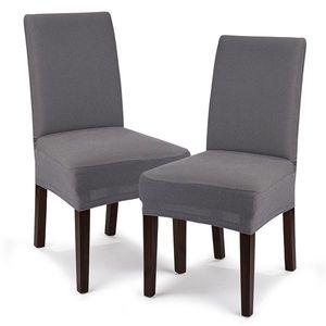 4Home Multielastyczny pokrowiec na krzesło Comfort, szary, 40 - 50 cm, zestaw 2 szt. obraz