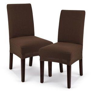4Home Multielastyczny pokrowiec na krzesło Comfort, brązowy, 40 - 50 cm, zestaw 2 szt. obraz