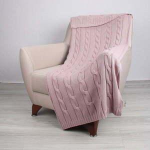 Różowa bawełniana narzuta Couture, 130x170 cm obraz