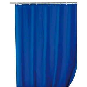 Niebieska zasłona prysznicowa Wenko Simpler, 180x200 cm obraz