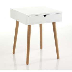 Biały stolik z szufladą Tomasucci Turneta obraz