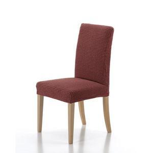 Forbyt, Pokrowiec elastyczny na całe krzesło, Wzór Sada zestaw 2 szt., ceglasta obraz