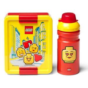Zestaw żółto-czerwonego pojemnika na lunch i butelki LEGO® Iconic obraz