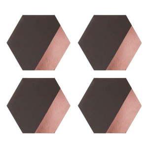 Zestaw 4 mat stołowych ze skóry ekologicznej Premier Housewares Geome, 30x26 obraz