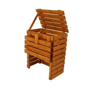 Kompostownik drewniany ogrodowy - 400l obraz