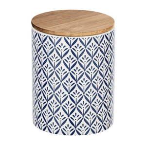 Ceramiczny pojemnik z bambusową pokrywką Wenko Lorca, 950 ml obraz