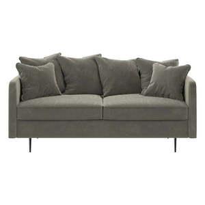Beżowa aksamitna sofa Ghado Esme, 176 cm obraz
