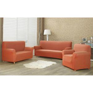 4Home Multielastyczny pokrowiec na kanapę 2-os. Comfort terracotta, 140 - 180 cm obraz