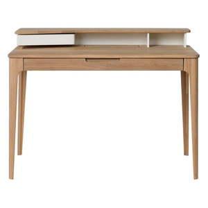 Biurko z drewna białego dębu Unique Furniture Amalfi, 120x60 cm obraz