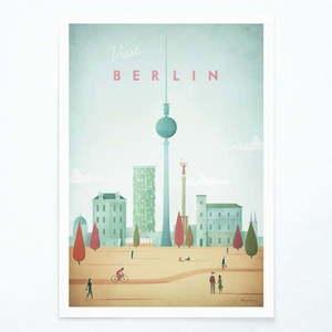 Plakat Travelposter Berlin, A3 obraz