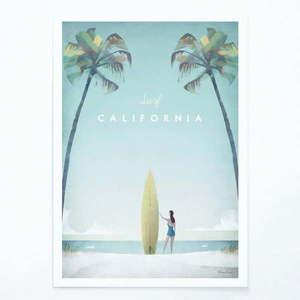 Plakat Travelposter California, A3 obraz