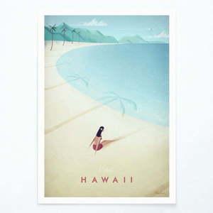 Plakat Travelposter Hawaii, A2 obraz