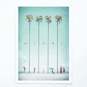 Plakat Travelposter Miami, A3 obraz