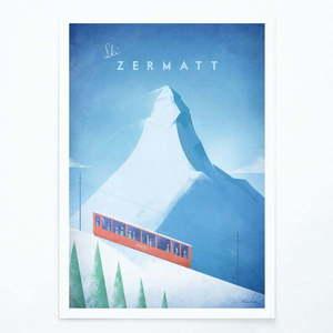 Plakat Travelposter Zermatt, A3 obraz