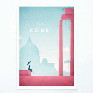 Plakat Travelposter Rome, A3 obraz