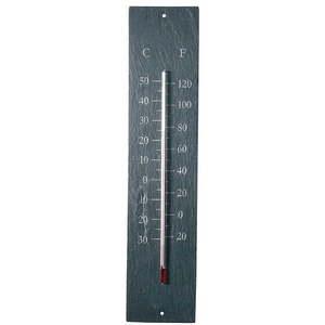 Wiszący zewnętrzny termometr z łupku Ego Dekor Plain, 45x10 cm obraz