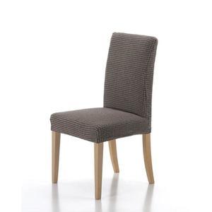 Forbyt, Pokrowiec na całe krzesło, Wzór Sada zestaw 2 szt., brązowy obraz