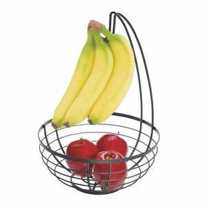 Czarny koszyk na owoce z wieszakiem iDesign Austin, ø 27, 31 cm obraz