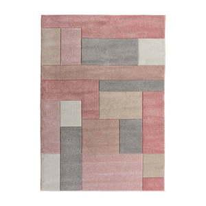 Różowo-szary dywan Flair Rugs Cosmos, 120x170 cm obraz