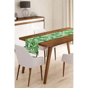 Bieżnik z mikrowłókna Minimalist Cushion Covers Green Jungle Leaves, 45x145 cm obraz