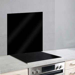 Czarna szklana płyta ochronna na ścianę przy kuchence Wenko, 70x60 cm obraz