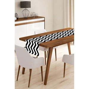 Bieżnik z mikrowłókna Minimalist Cushion Covers Black Stripes, 45x145 cm obraz