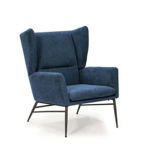 Niebieski fotel Marckeric Tilly obraz