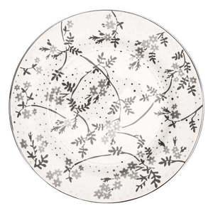 Biało-szary porcelanowy talerz Green Gate Amira obraz