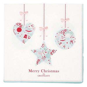 Zestaw 20 świątecznych papierowych serwetek Green Gate Sandie obraz