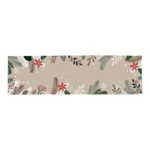 Bawełniany dywan ze świątecznym motywem Butter Kings Frosted Branches, 140x40 cm obraz