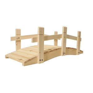 Most drewniany ogrodowy - bez zabezpieczonej powierzchni - 71 cm obraz