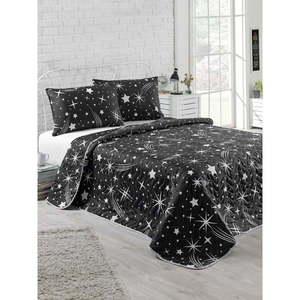 Komplet narzuty dwuosobowej i poszewek na poduszki Starry Night, 200x220 cm obraz