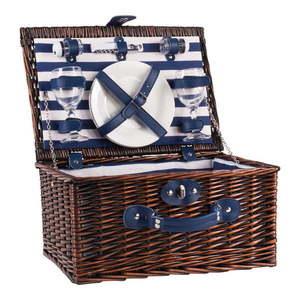 Wiklinowy kosz piknikowy z wyposażeniem dla 2 osób Navigate Basket obraz