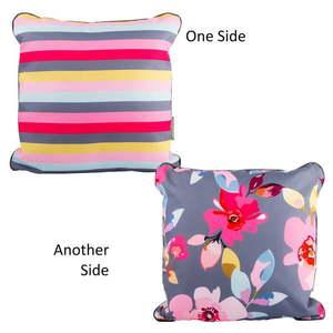 Dwustronna poduszka odpowiednia na zewnątrz Navigate Floral&Stripe obraz