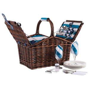 Wiklinowy kosz piknikowy z wyposażeniem dla 4 osób Navigate Basket obraz