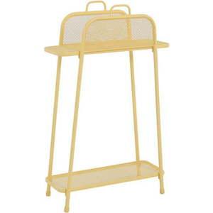 Żółty metalowy regał na balkon ADDU MWH, wys. 105, 5 cm obraz
